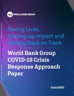 June 2020World Bank Group COVID19 Crisis Response Approach PaperSavin