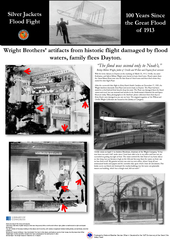 """""""The flood was second only to Noah's,""""Bishop Milton Wright, father of Orville and Wilbur and Dayton flood survivor. Wright Brothers' artifacts from historic flight damaged by flood waters, family flees Dayton.  ..."""