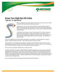 When your application calls for cable meant to stand the tests of time and motion, you need to know what to purchase and what constitutes product quality.  ...