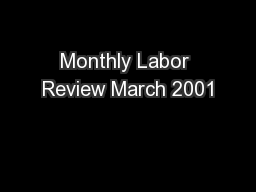 Monthly Labor Review March 2001