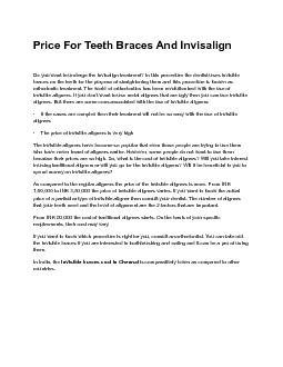 Price For Teeth Braces And Invisalign