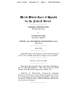 United States Courtof Appeals for the Federal CircuitINSERSO CORPORATI