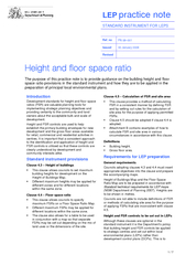 Height and floor space ratio