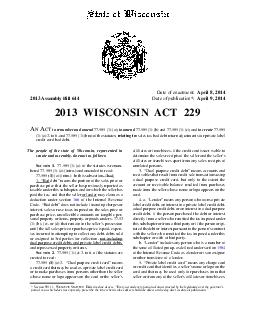 Assembly Bill 644 Date of publication*: April 9, 2014 2013 W ISCONSI N A T 2 29 A  PDF document - DocSlides