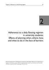 Chapter 2: Adherence to a daily flossing regimen 23