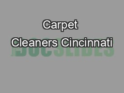 Carpet Cleaners Cincinnati