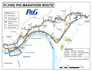 Flying pig marathon route