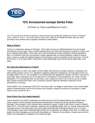 The TEC Isotope Fob Series are stainless steel keychain fobs specifica PowerPoint PPT Presentation