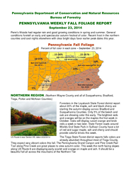 Pennsylvania department of conversation and natural resources bureau of forestry