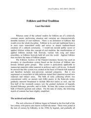 Oral Tradition18/2 (2003): 200-202Folklore and Oral Tradition Lauri Ha PowerPoint PPT Presentation
