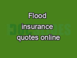 Flood insurance quotes online