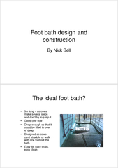 Foot bath design and constructionBy Nick Bell
