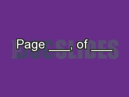 Page ___, of ___ PowerPoint PPT Presentation