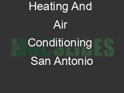 Heating And Air Conditioning San Antonio