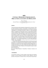 162ONTRACT R F CAUSATION AND MITIGATION  Eric A. PosnerAssistant Profe