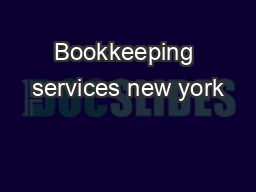 Bookkeeping services new york