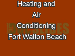 Heating and Air Conditioning Fort Walton Beach
