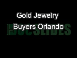 Gold Jewelry Buyers Orlando