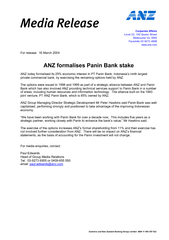 Australia and New Zealand Banking Group Limited  ABN 11 005 357 522 ..