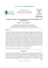 Comparative stability study for formulated ayurvedic health supplement and marketed product