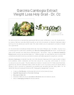 GARCINIA CAMBOGIA PDF document - DocSlides