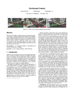 Continuum Crowds Adrien Treuille Seth Cooper Zoran Popovi University of Washington Electronic Arts Figure  A variety of city scenarios simulated with our model
