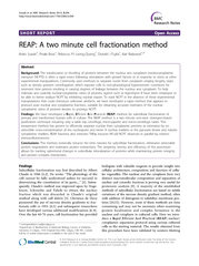 A two minute cell fractionation method