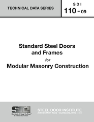 Standard Steel Doors and Frames The size of any individual part, taken