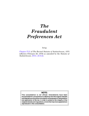 The Fraudulent Preferences Act