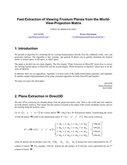 Fast Extraction of Viewing Frustum Planes from the World-View-Projecti