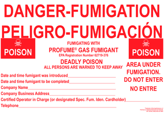 DANGER-FUMIGATIONFUMIGATING WITHDEADLY POISONALL PERSONS ARE WARNED TO