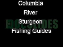 Columbia River Sturgeon Fishing Guides