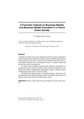 A Futuristic Outlook on Business Models and Business Model Innovation in a Future Green Society