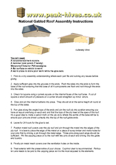 National Gabled Roof Assembly Instructions