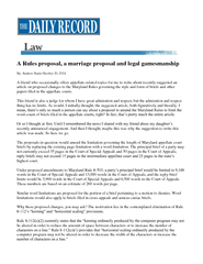 A Rules proposal, a marriage proposal and legal gamesmanship