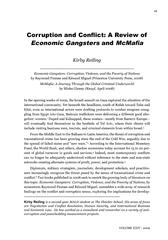 Corruption and Con�ict: A Review of Economic GangstersIn th
