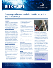 Gangway and Accommodation Ladder Inspection Gangway and Accommodation Ladder Inspectionand Maintenance