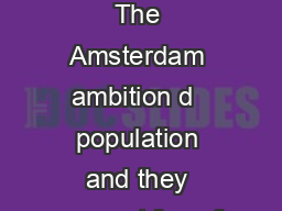 A Green Metropole Amsterdam Definitely Sustainable The Amsterdam ambition d  population and they account for  of the greenhouse gases produced