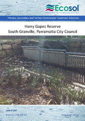 Harry Gapes Reserve South Granville, Parramata City Council