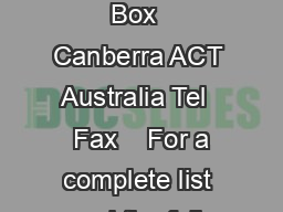 TRENDS  ISSUES in crime and criminal justice ISSN  ISBN      GPO Box  Canberra ACT  Australia Tel    Fax    For a complete list and the full text of the papers in the Trends  issues in crime and crimi