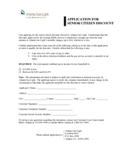 I am applying for the senior citizen discount offered by Atlanta Gas L