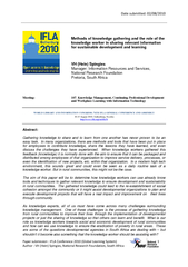 Paper submission : IFLA Conference 2010 (Global Learning System) Autho