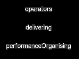AquaFedPrivate operators delivering performanceOrganising authority: .