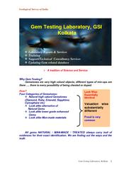 Geological Survey of India Gem Testing Laboratory, Kolkata