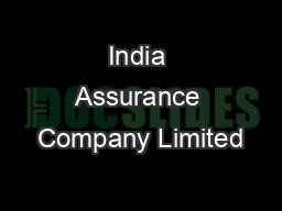 India Assurance Company Limited