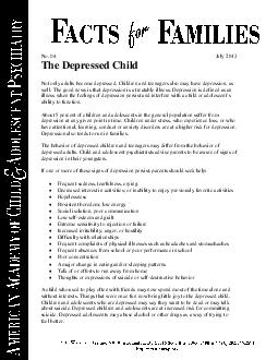 No   XO he Depressed Child Not only adults become depressed PowerPoint PPT Presentation
