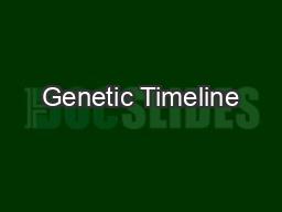 Genetic Timeline