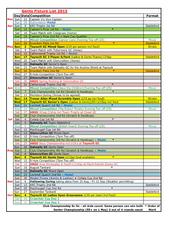 Gents Fixture List 2015
