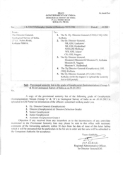 PROVISIONAL SENIORITY LIST OF OFFICERS IN THE GRADE OF