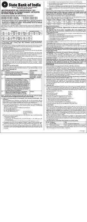 CENTRAL RECRUITMENT  PROMOTION DEPARTMENT CORPORATE CENTRE MUMBAI ADVERTISEMENT NO